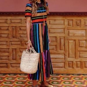 ❤last1️⃣ Colorful Striped Maxi Dress